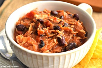 Slow Cooker Chicken Taco Chili – Gluten Free & Dairy Free