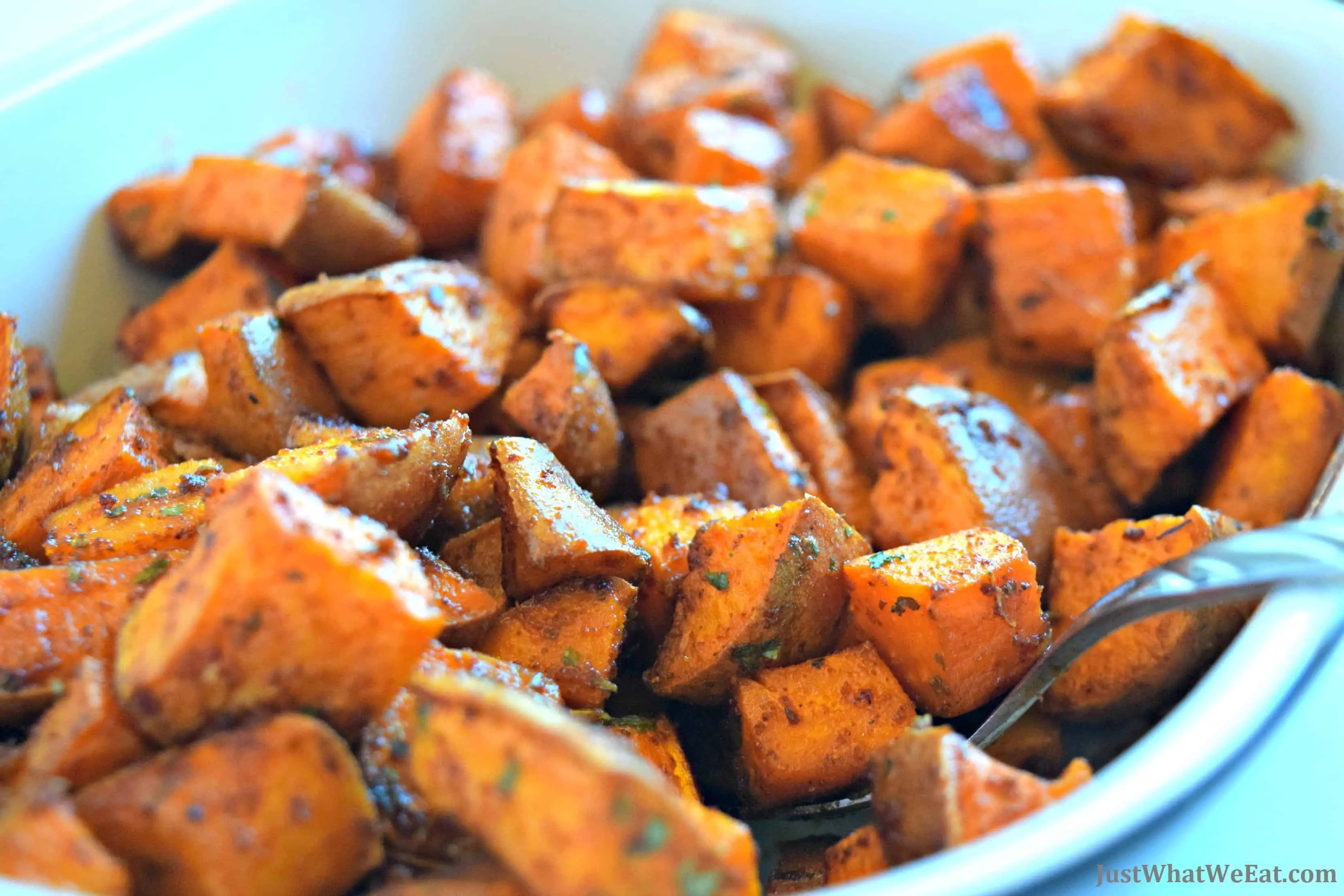BBQ Roasted Sweet Potatoes - Gluten Free & Vegan