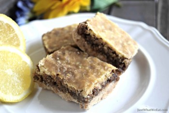 Coconut Pecan Lemon Bars – Gluten Free, Vegan, & Refined Sugar Free