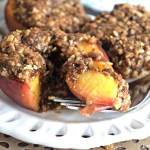 Baked Peaches with Streusel Topping - Gluten Free, Vegan, & Refined Sugar Free