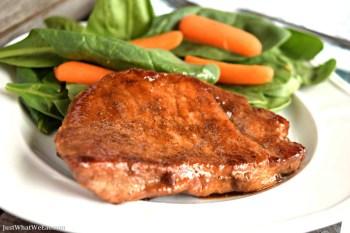 Coconut Sugar Glazed Pork Chops - Gluten Free, Dairy Free, & Refined Sugar Free