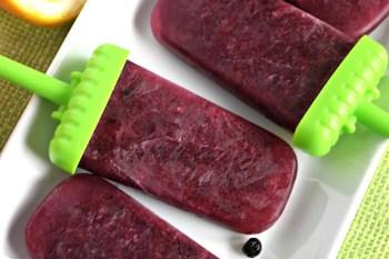 Watermelon Lemon Blueberry Popsicles – Gluten Free, Vegan, & Refined Sugar Free
