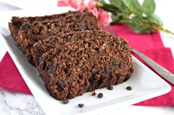 Chocolate Zucchini Bread – Gluten Free & Vegan