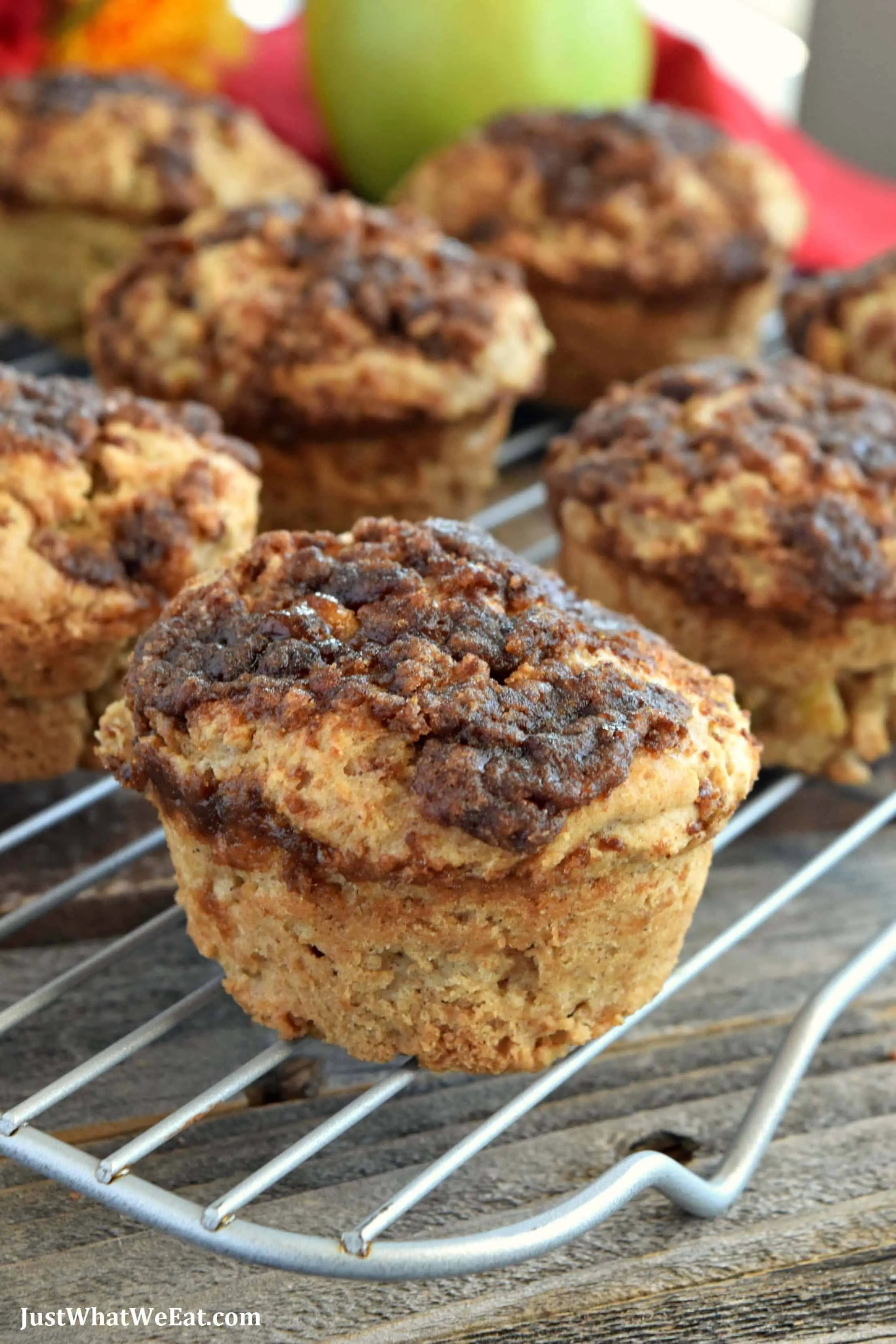 Apple Crumble Muffins - Gluten Free, Vegan, and Refined Sugar Free