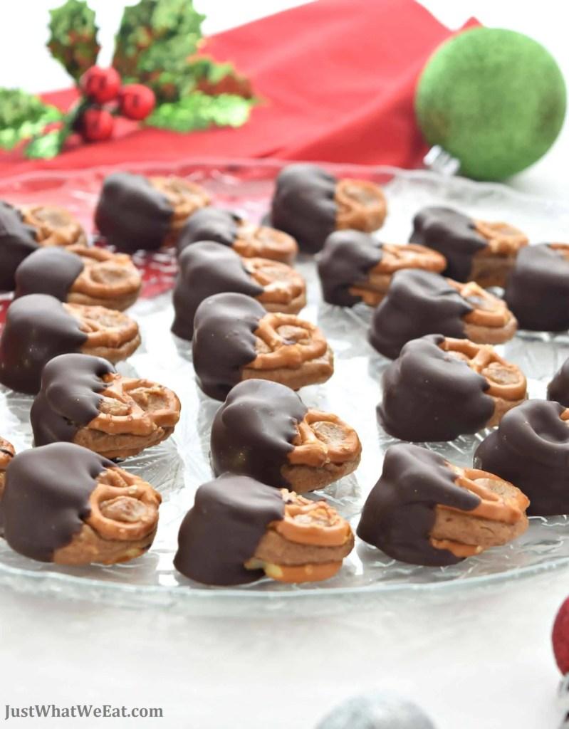 Chocolate Covered Peanut Butter Pretzel Bites - Gluten Free & Vegan