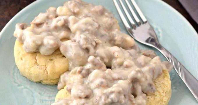 Biscuits and Sausage Gravy – Gluten Free & Dairy Free