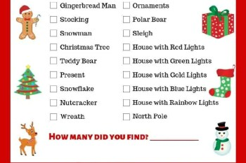 Christmas Light Scavenger Hunt Free Printable
