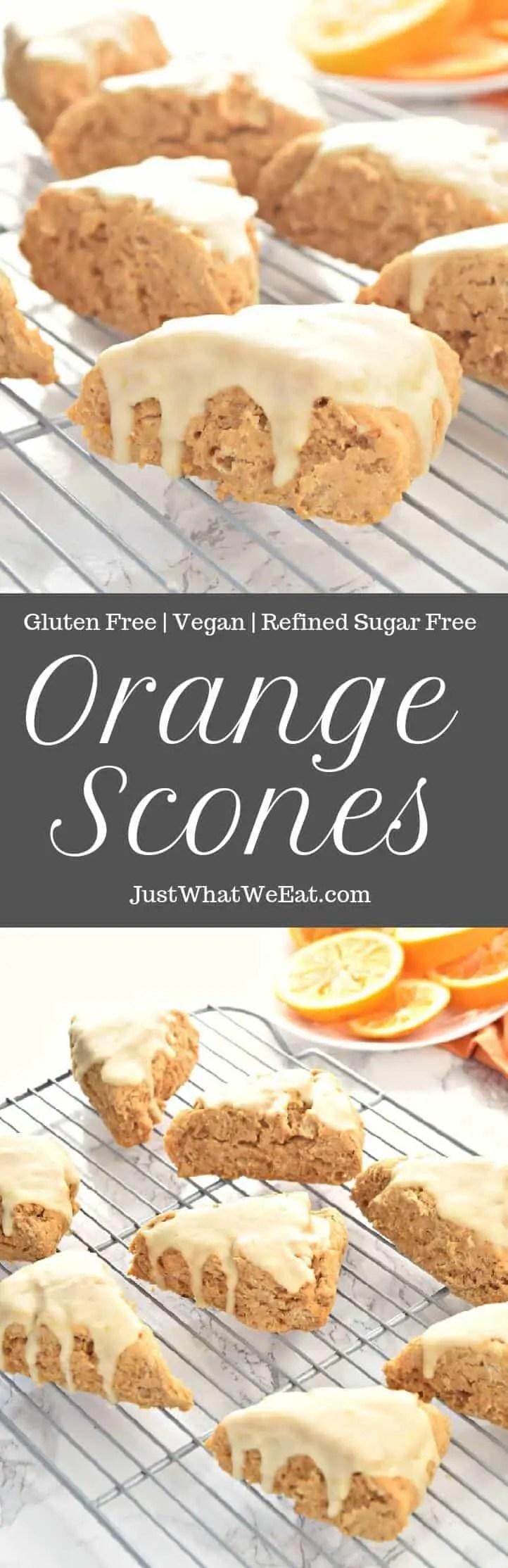 Orange Scones - Gluten Free, Vegan, and Refined Sugar Free