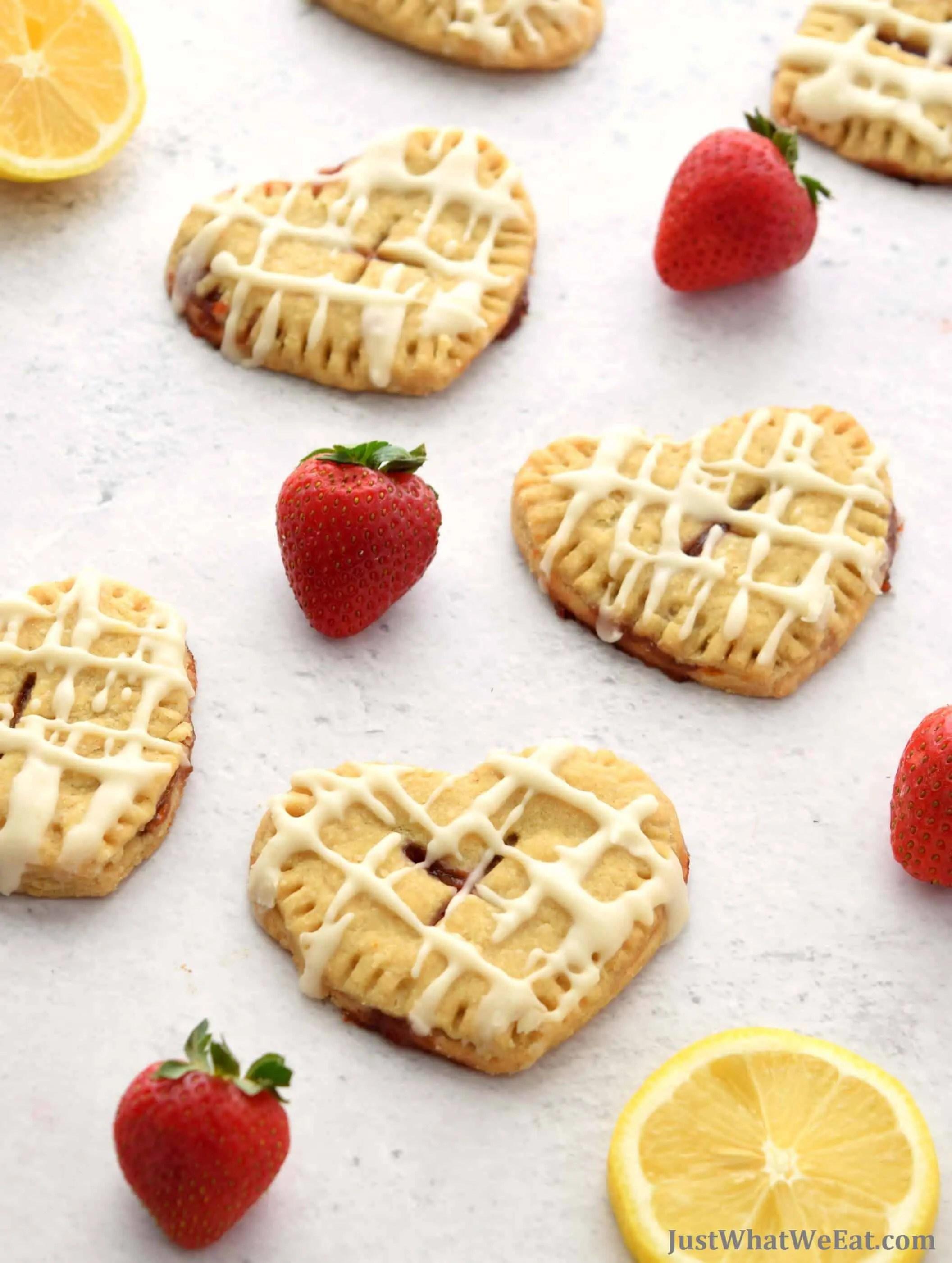 Strawberry Lemon Hand Pies - Gluten Free, Vegan