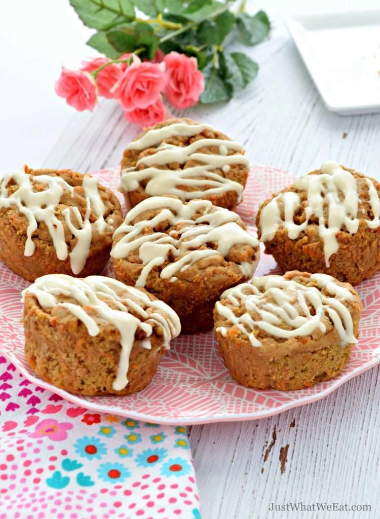Gluten Free, Vegan, Refined Sugar Free Carrot Cake Muffins