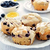 These Lemon Blueberry Muffins are gluten free, vegan, and taste wonderful! The lemon and blueberry flavor combination make the muffins taste so fresh!