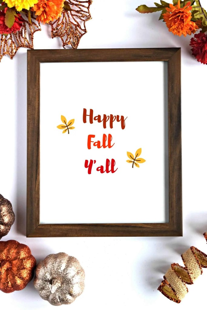 I love these cute Fall decor printables! They look adorable in frames throughout my house!
