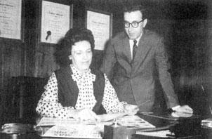 Estelle Axton with her brother Jim Stewart