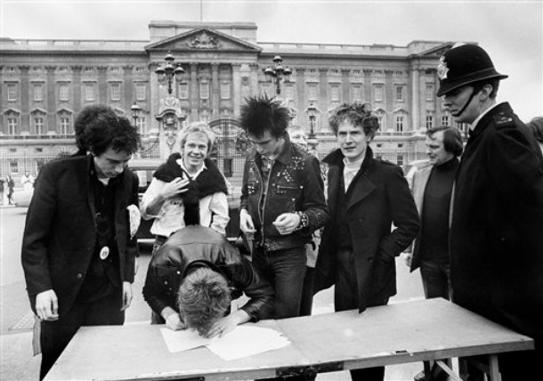 Malcolm McLaren always thought he was the 5th Pistol, but as this picture shows it was clearly Sting off of the Police!