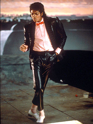 A still from the Billie Jean video
