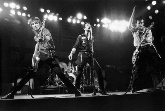 This is either the Clash in full swing or the Shadows have gone punk!