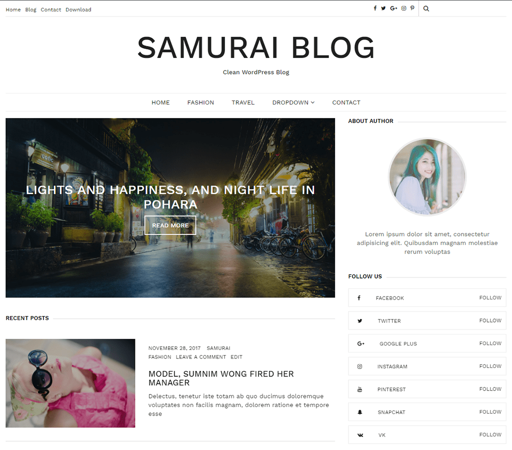 Premium Minimalist WordPress Theme