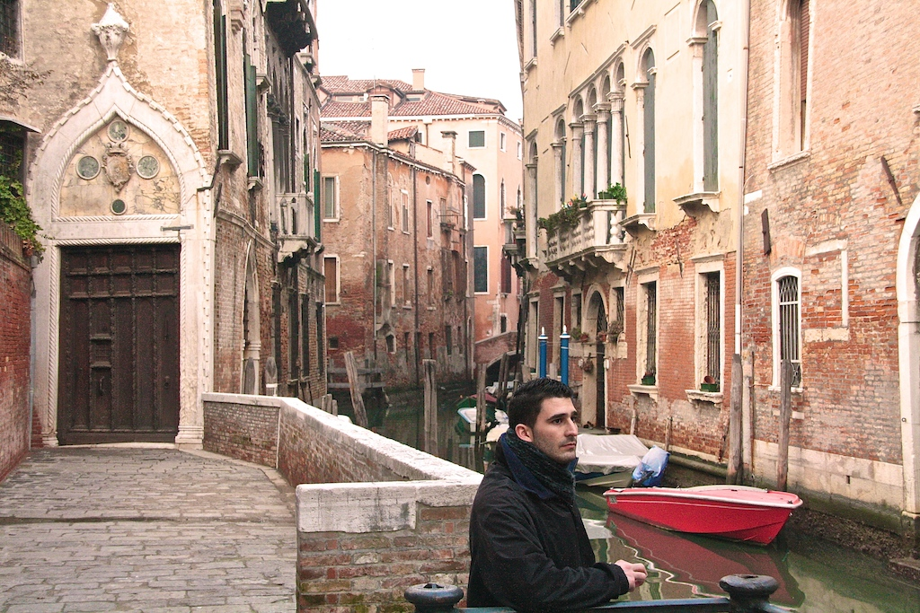 Stefan posing in Venice, Italy