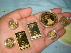 Simpanan emas fizikal alternatif simpanan wang kertas
