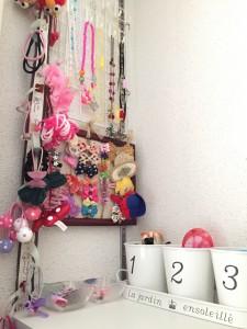 子供のヘアアクセサリーの収納