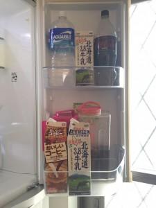 冷蔵庫の飲み物スペース