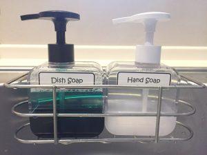 キッチン 食器洗い洗剤 ハンドソープ 詰め替えボトル 手作りラベル おしゃれ シンプル