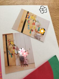幼稚園の作品 大きなものは写真で残す