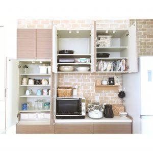 無印 100均 ダイソー セリア キッチン カップボード 収納 整理整頓 何を収納してるのか 収納の工夫 使いやすい収納