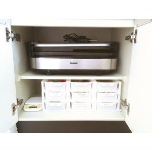 キッチン カップボードの収納 整理整頓 ホットプレート 割り箸や使い捨てのものをどこになおす