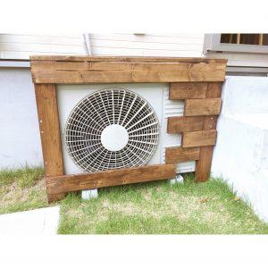 室外機カバー 日立室外機 diy DIY 1×4材 簡単手作り 主婦DIY
