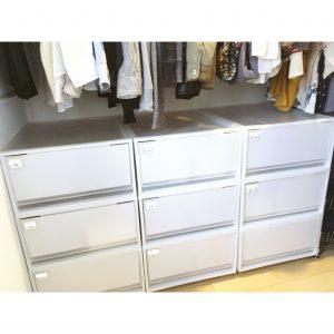 ウォークインクローゼット 無印 無印良品 衣装ケース すっきり シンプル 統一 白 収納 整理 方法