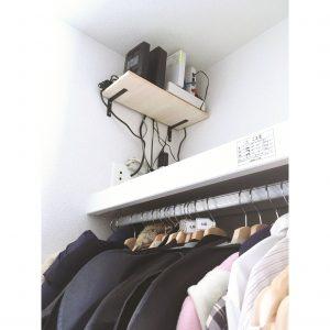 2階 寝室 無線ランルーター モデム 整理 収納 置き場所 工夫 配線すっきり 配線整理