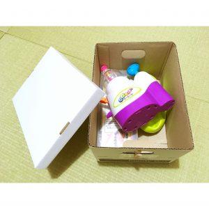 ウーニーズ 収納 整理 片付け方法 セリア プレンティボックス 100均 段ボール箱