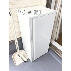 IKEA イケア JOSEF ヨーセフ 屋外倉庫 屋外物置 屋外にハンガーを置きたい 屋外ハンガー置き場 ベランダにハンガーを置く方法 ハンガー収納 ハンガー置き場 おすすめ 白 ホワイト 収納 整理整頓 ブログ
