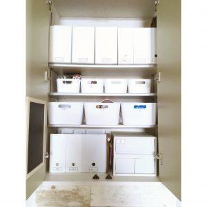 清潔感のあるパントリー 食品収納 白 ファイルボックス ファイルケース ニトリ IKEA イケア 無印 無印良品 キッチン パントリー 収納 整頓 整理整頓 ブログ