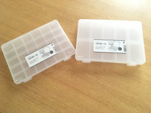 セリア 100均 SIKIRI 小物収納 収納 整理整頓 ヘアゴム 仕切りケース 透明ケース おもちゃ収納 小さなおもちゃ収納