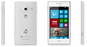 White Huawei4Afrika Mobile Device