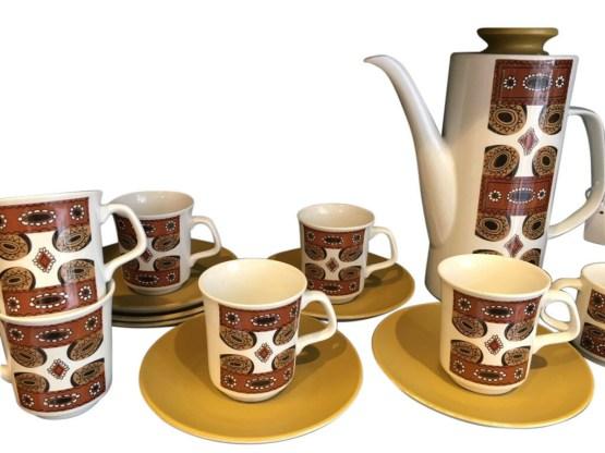 retro coffee set - JP Meakin