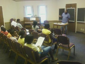 "Isaiah Cummings presents a lesson on ""Blacks in the Bible,"" Friends of Latter-day Saints of African Descent, September 2011."