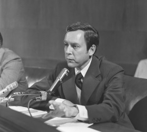 Photo Courtesy of U.S. Senate Historical Office Sen. Orrin Hatch speaks at one of his first Senate hearings. Right from the start, he was active on labor and judicial issues.