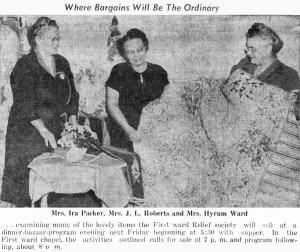 Relief Society Bazaar 1955