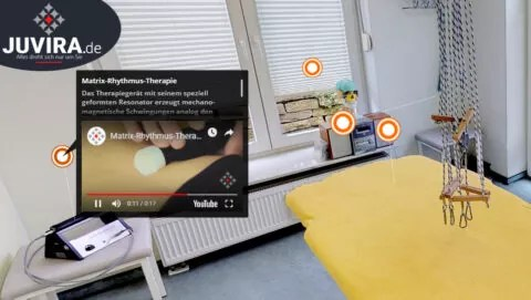 Juvira.de | Mattertags Beispiel anhand der Matrix-Rhytmus-Therapie in einem virtueller Rundgang