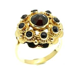 gouden ring met granaat stenen