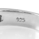 Keurtekens zilveren ring