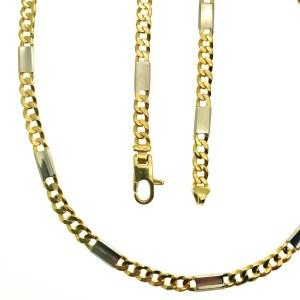 bicolor gouden ketting