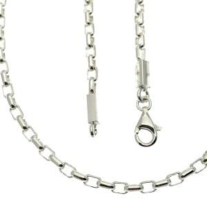 zilveren anker schakel ketting