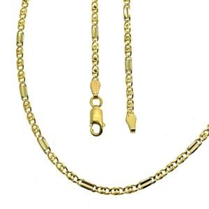 gouden gesloten figaro ketting