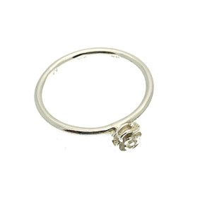 zilveren ring met roos