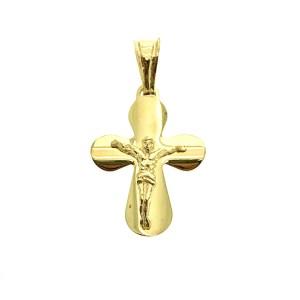 gouden hanger van kruis met corpus