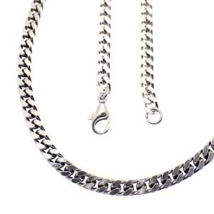 zilveren gourmetschakel ketting